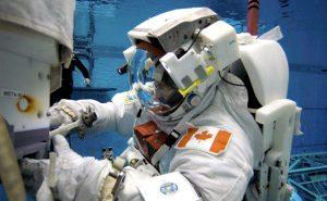 Canada's diving astronaut