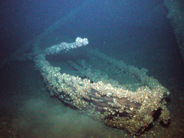 A ship's boat from the Hamilton