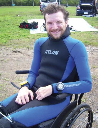 Mitch Brogan, HSA certified advanced diver. Photo: Courtesy HSA