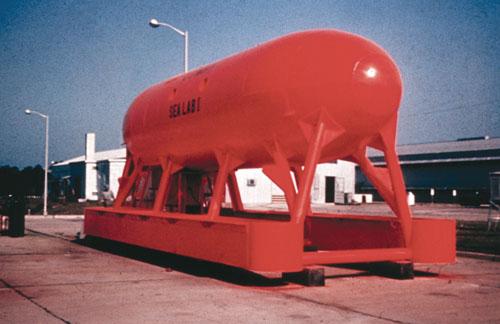 SeaLab I 1964 Photo: Sierra Cardenas, OAR/National Undersea Research Program, U.S. Navy