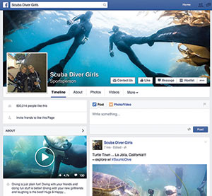 Scuba Diver Girls have a huge social media following