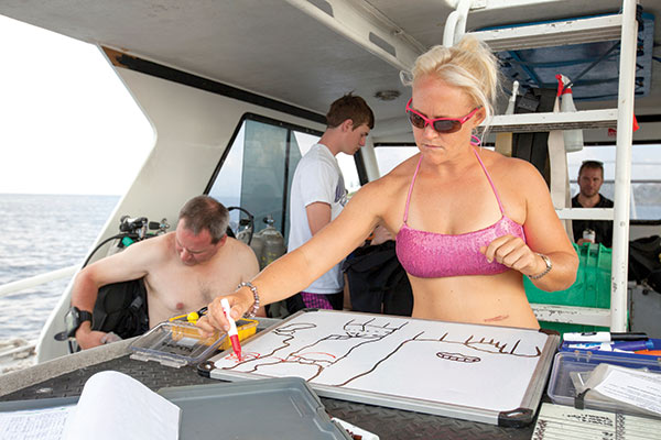 Divemaster Jo proves feminine can convey strong and capable